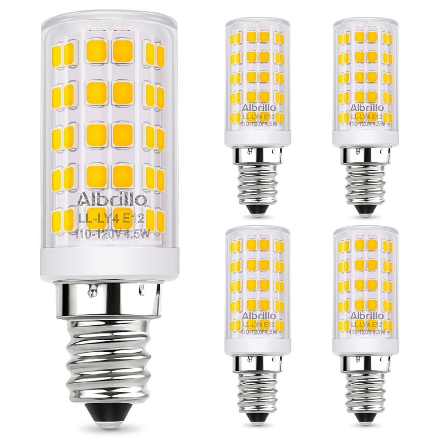 Albrillo E12 LED Candelabra Bulb Chandelier Light Bulbs 60