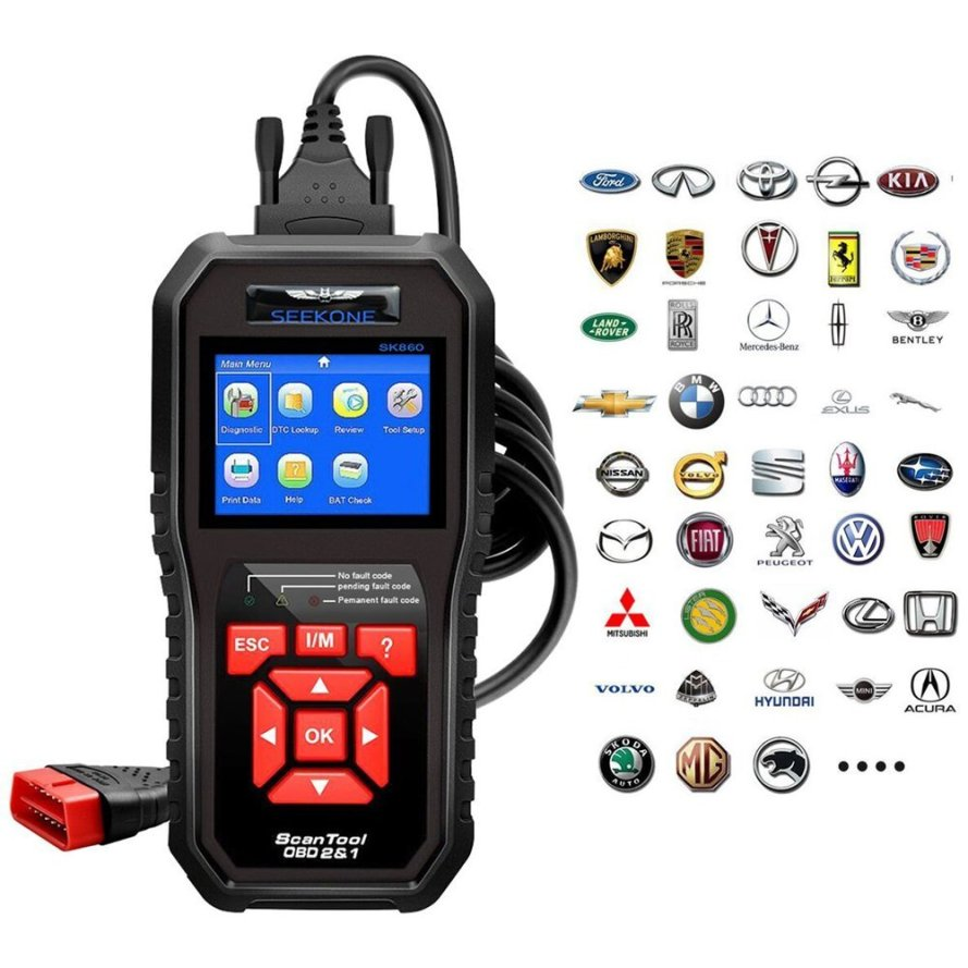 Seekone Professional Car Auto Diagnostic Code Reader
