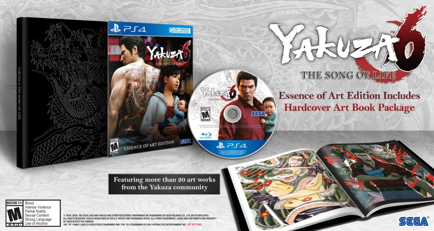 Yakuza 6 The Song of Life Essence of Art Edition, Sega, PlayStation 4