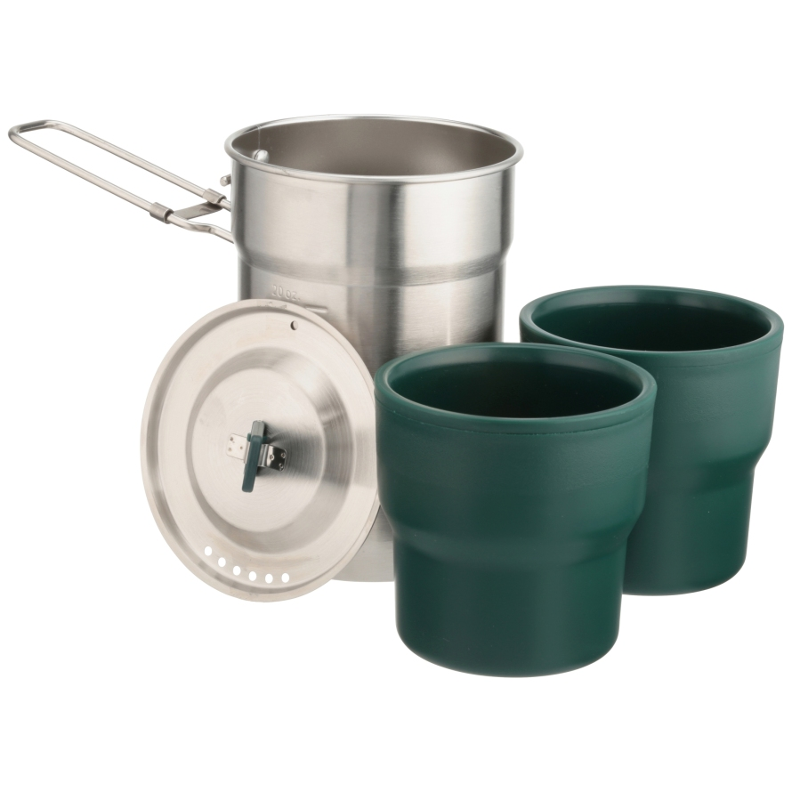3 pc Pack Stanley Steel Cooker + Nesting Cups Adventure Camp Cook Set