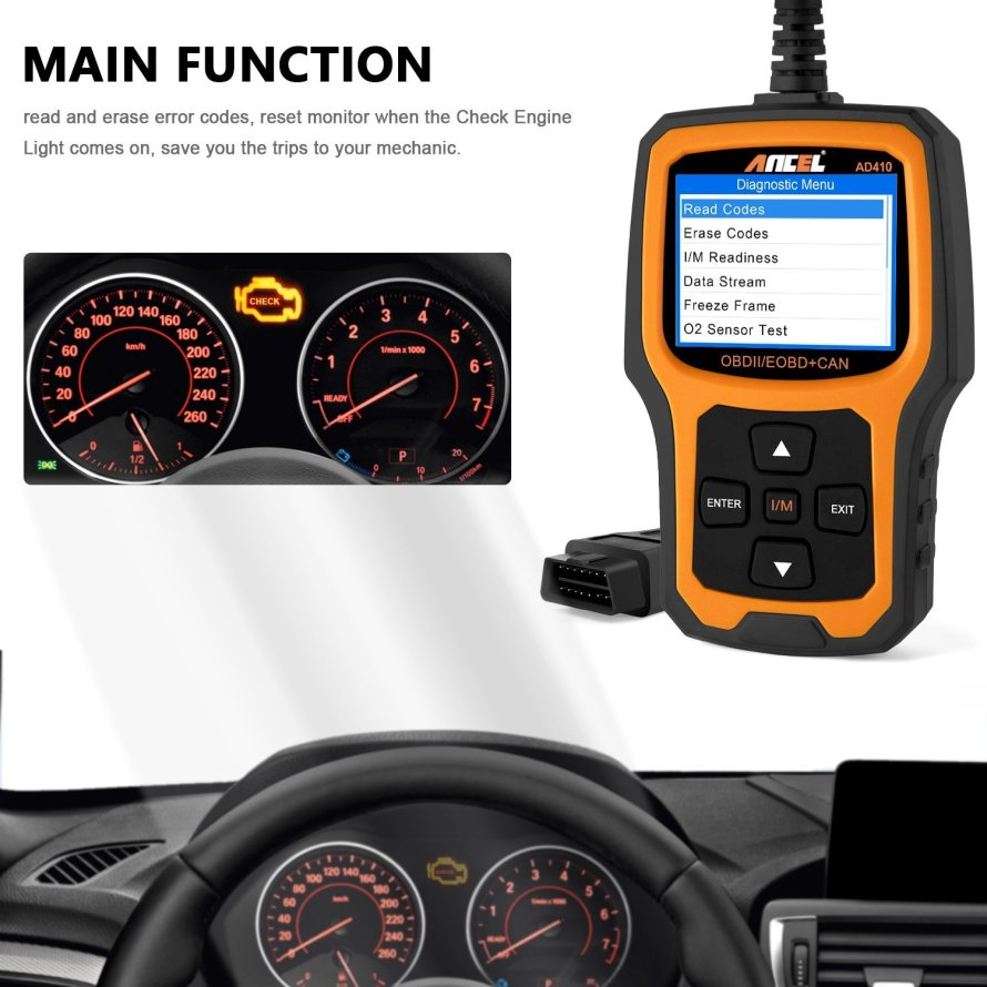 ANCEL AD410 Vehicle Code Reader