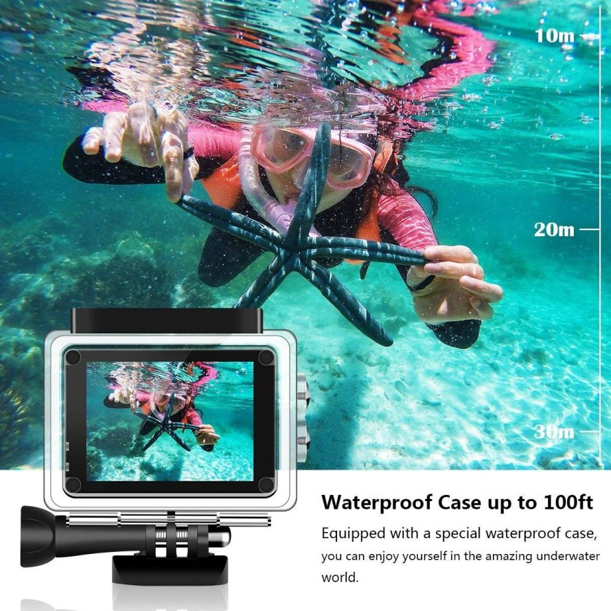 DIDICO 4K Action 16MP WIFI Ultra HD Underwater Waterproof Camera