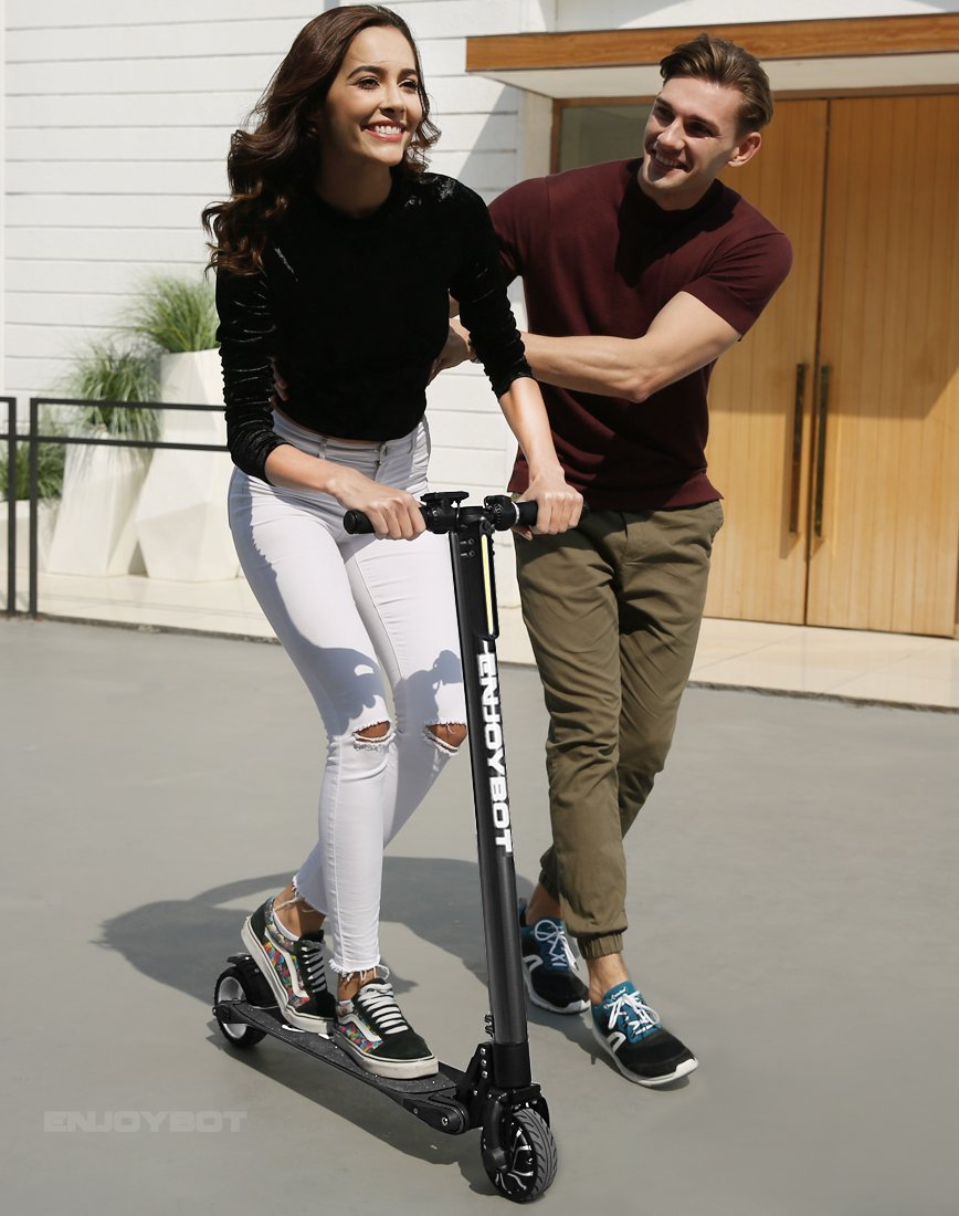 Enjoybot Electric Scooter Foldable Carbon Fiber Ultra Lightweight Adult Scooter