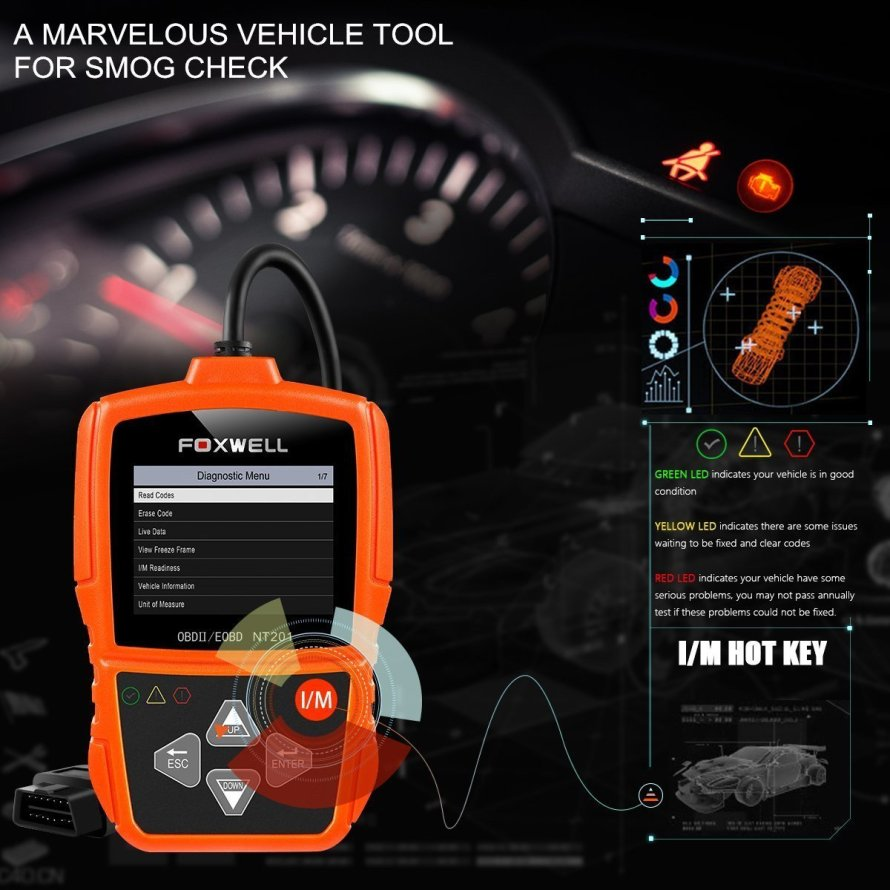 Foxwell NT201 OBDII Auto Code Scanner