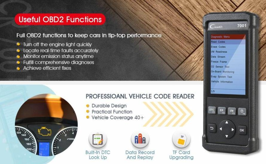 Launch CR7001 OBD2 Scanner
