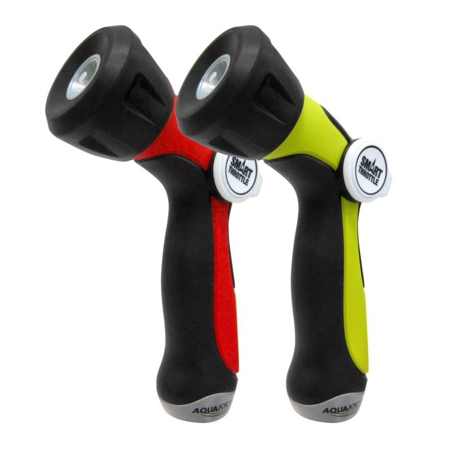 2-Pack Aqua Joe One Touch Adjustable Hose Nozzle