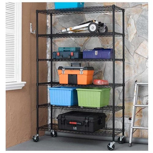 6-Shelf Commercial Steel Wire Shelving Rack W Casters (500LBS SHELF).jpg