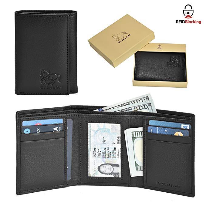 Estalon RFID Leather Trifold Wallets for Men.jpg