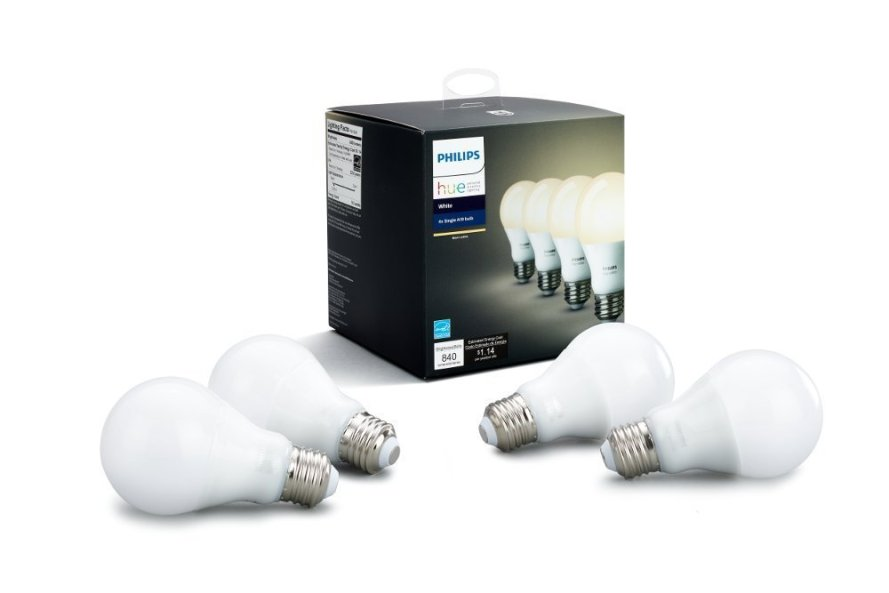 Philips Hue White A19 4-Pack 60W Equivalent Dimmable LED Smart Bulb.jpg