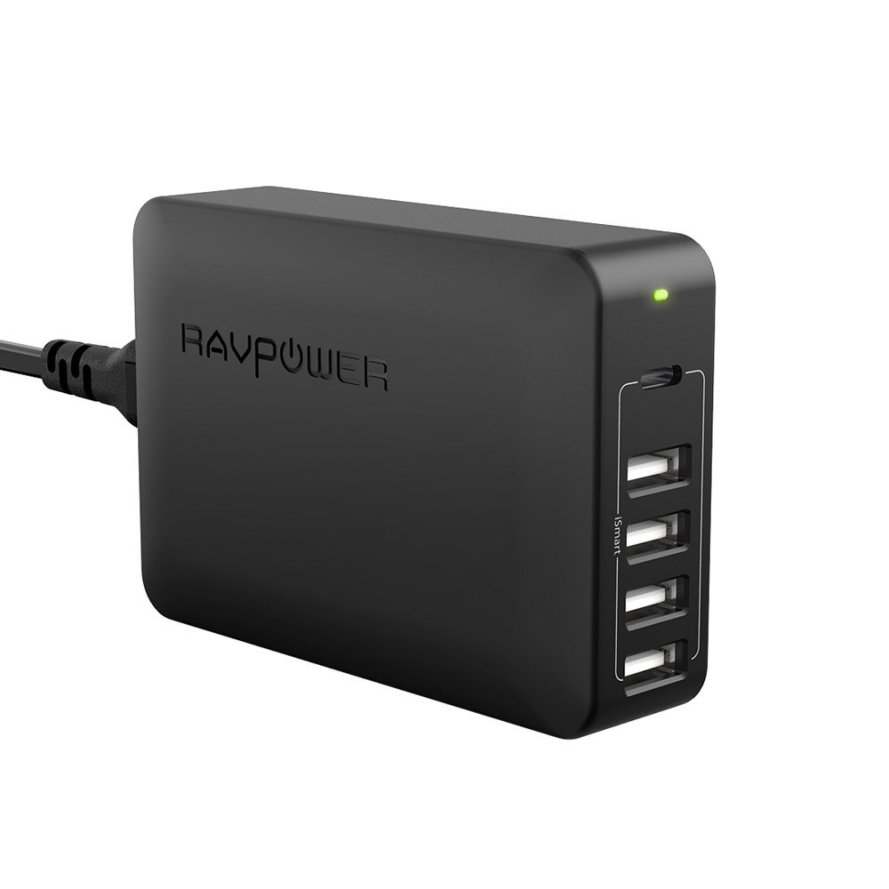 RAVPower 60W 5-Port USB C Charging Station USB Charger.jpg