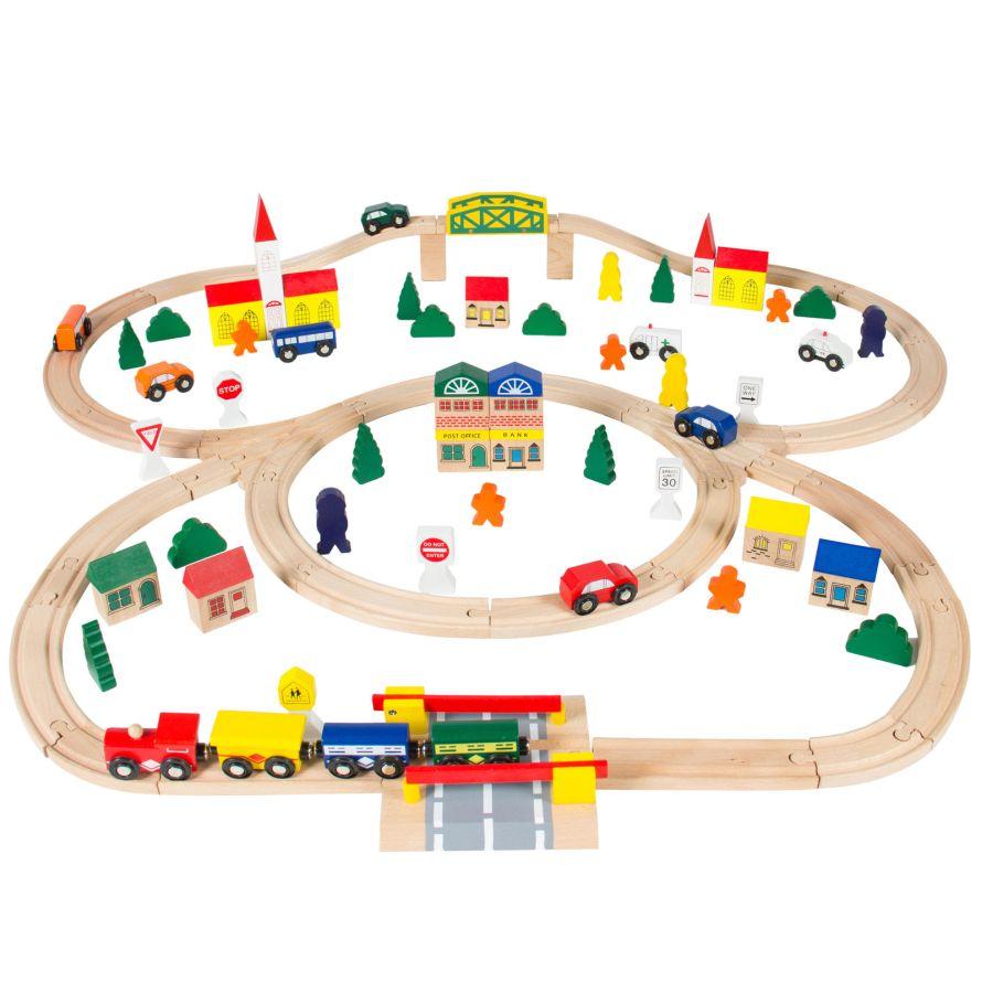 100pc Hand Crafted Wooden Train Set Triple Loop Railway Play Set.jpg