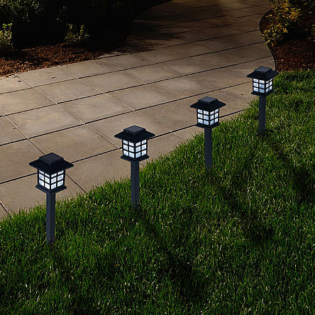 6 Pack Pure Garden Outdoor Lantern Solar Landscaping Lights.jpg