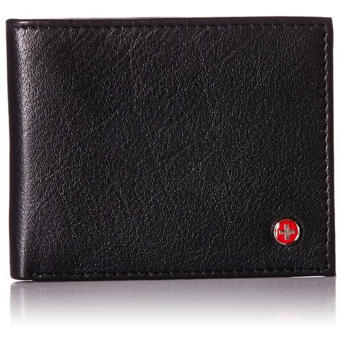 Alpine Swiss Mens Thin Bifold Wallet
