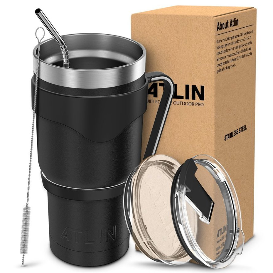 Atlin Tumbler 30 oz. Double Wall Stainless Travel Water Coffee Cup.jpg