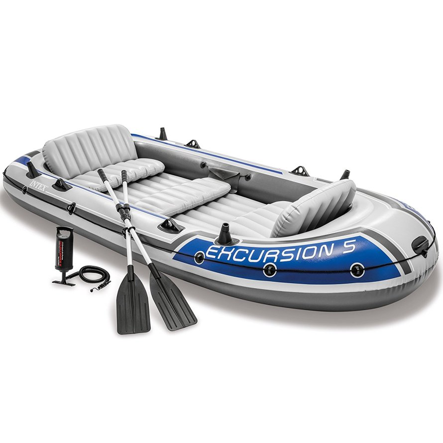 Intex Excursion 5, 5-Person Inflatable Boat Set