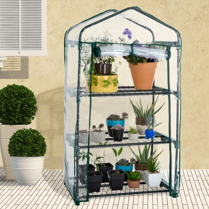 Mini Greenhouse with Cover by Pure Garden.jpeg