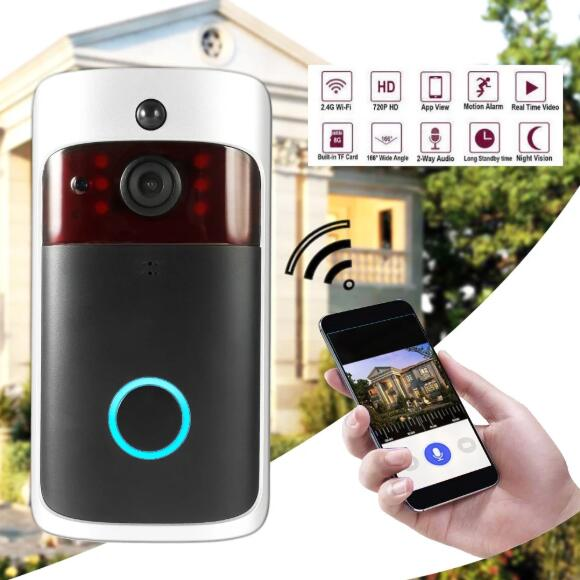 Smart Video Door Phone Visual Recording Wireless WiFi Security DoorBell.jpg