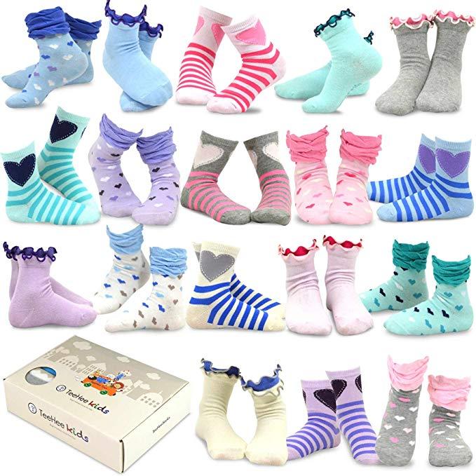 TeeHee (Naartjie) Kids Girls Fashion Variety Cotton Crew 18 Pair Pack in 3-8 years.jpg
