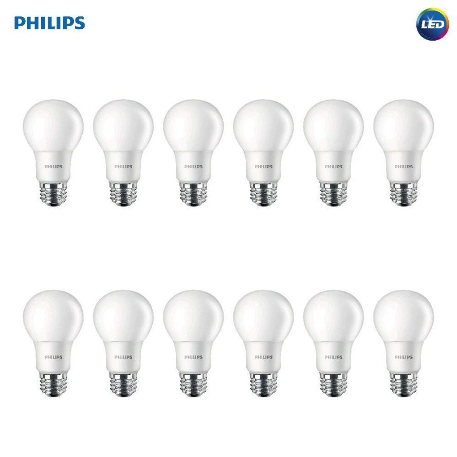 12 Pack Philips LED Non-Dimmable A19 Frosted Light Bulbs.jpg