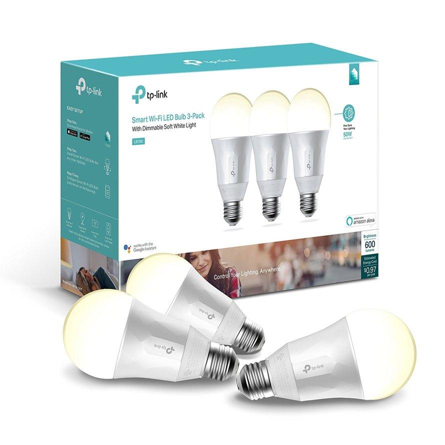 3 Pack Kasa Smart Wi-Fi LED Light Bulb by TP-Link - Soft White