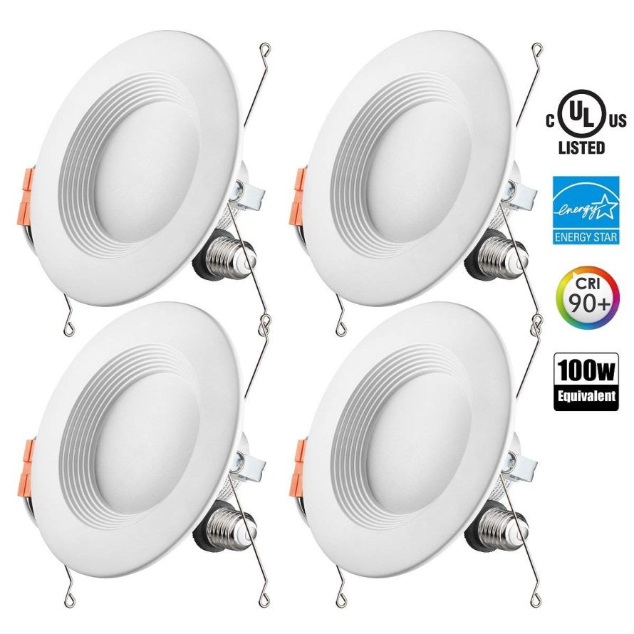 4 Pack Otronics 5 6 Inch Dimmable LED Recessed Lighting Fixture.jpg