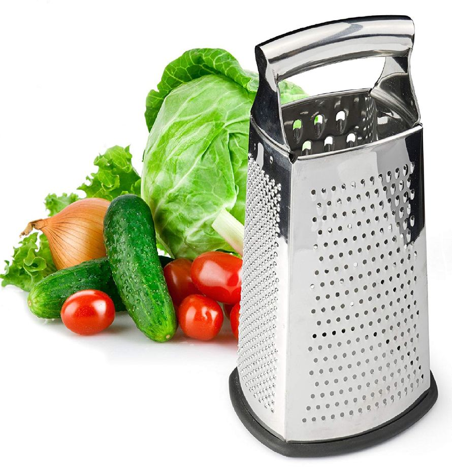 Box Grater, 4-Sided Stainless Steel Large 10-inch Grater.jpg