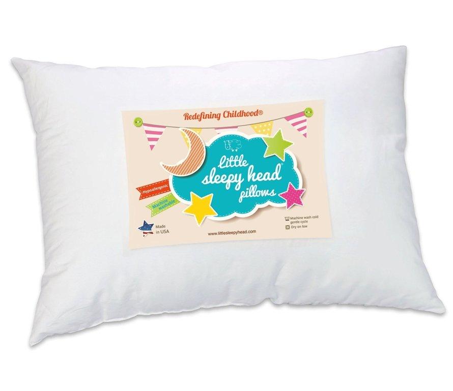 Little Sleepy Head Toddler Pillow, White.jpg