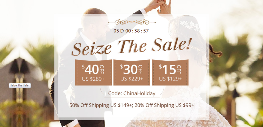 Seize the sale for the Wedding dress.png
