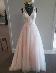 V-neck Neckline A-Line Wedding Dress.png