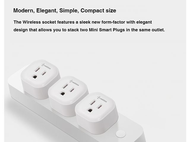 3PCS Geekbes S08 Smart Socket 2.4G WiFi Mini Plug