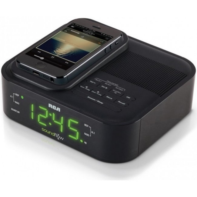 Acoustic Research Clock Radio with Soundflow Wireless Audio Speaker and USB Charging.jpg