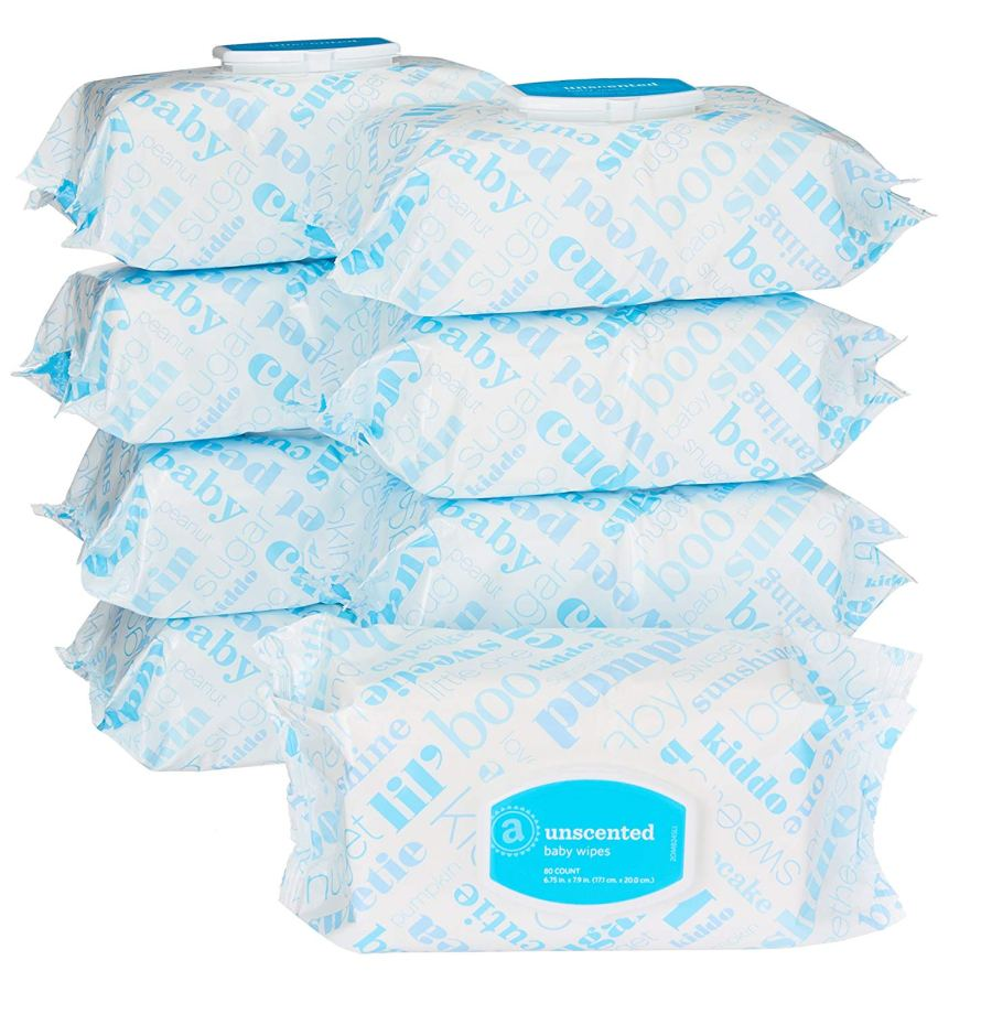 Amazon Elements Baby Wipes, Unscented, 720 Count Flip-Top Packs.jpg