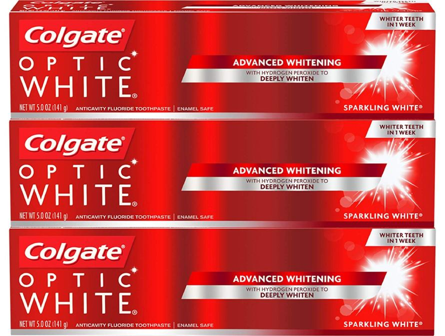 Colgate Optic White Whitening Toothpaste, Sparkling Mint, 5 Ounce, 3 Count.jpg