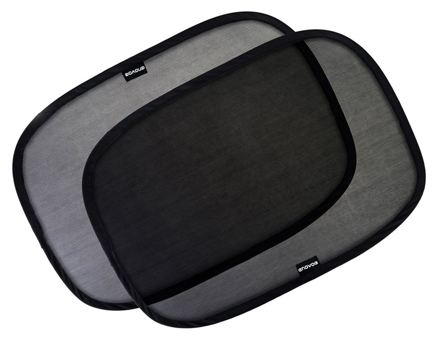 Enovoe Car Window Shade - (4 Pack) Cling Sunshade for Car Windows