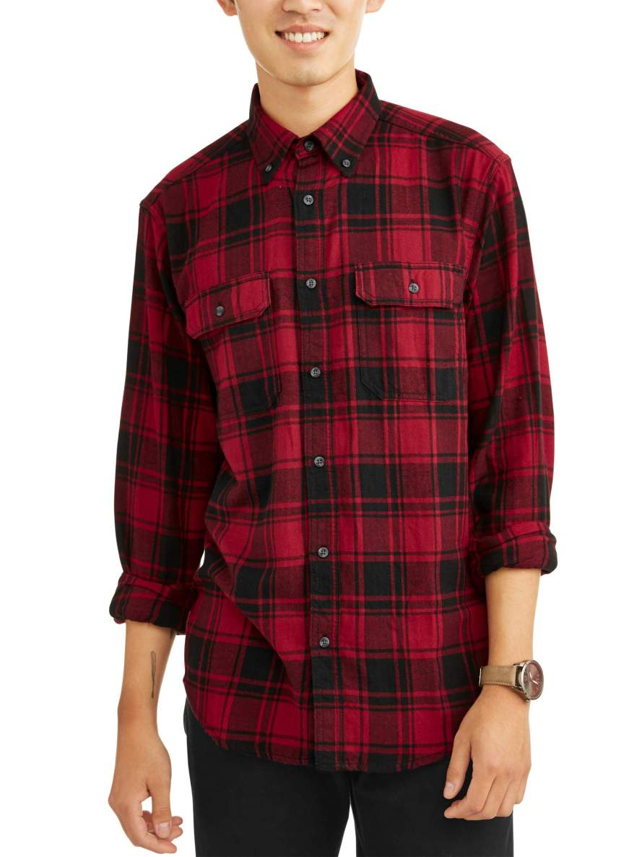 George Men's and Big & Tall Long Sleeve Flannel Shirt.jpeg