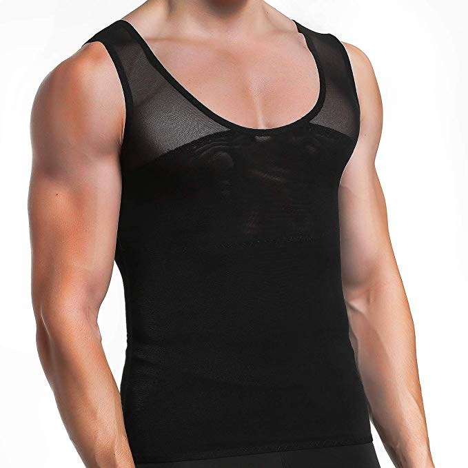 GKVK Men's Slim Vest Body Shaper Tank Top Chest Compression Shirt.jpg