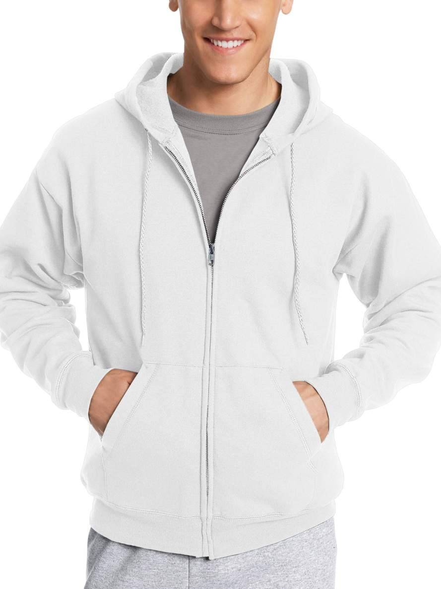 Hanes Men's Ecosmart Fleece Zip Pullover Hoodie with Front Pocket.jpeg