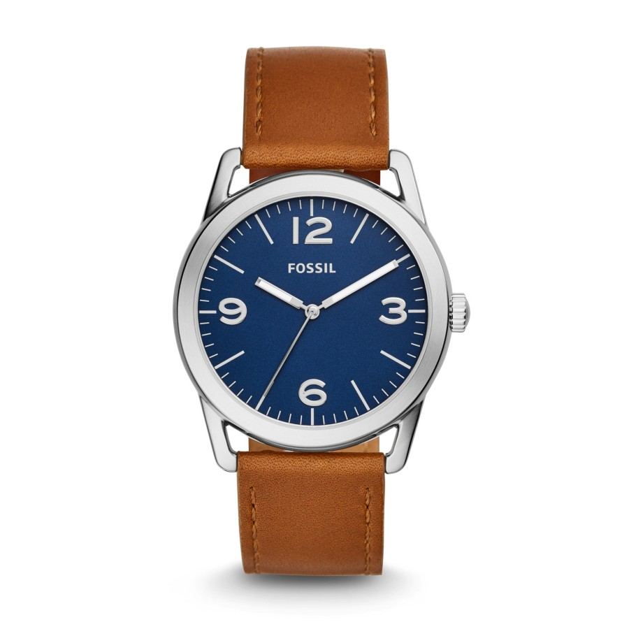 Ledger Three-hand Brown Leather Watch.jpg