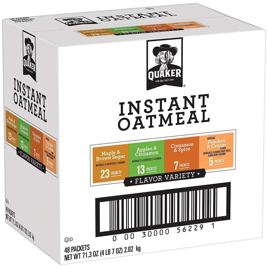 Quaker Instant Oatmeal Variety Pack, Breakfast Cereal, 48 Count.jpg