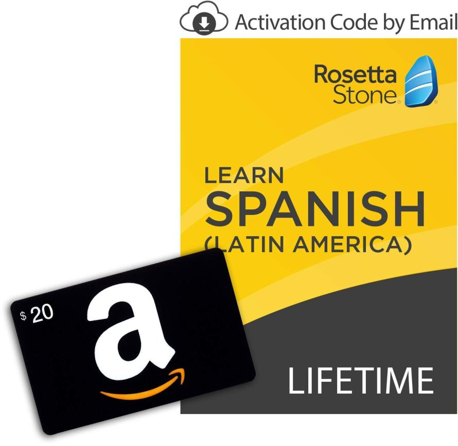 Rosetta Stone Learn Spanish (Latin America) [Lifetime Online Mobile Access - Digital Code] with Amazon.com $20 Gift Card.jpg