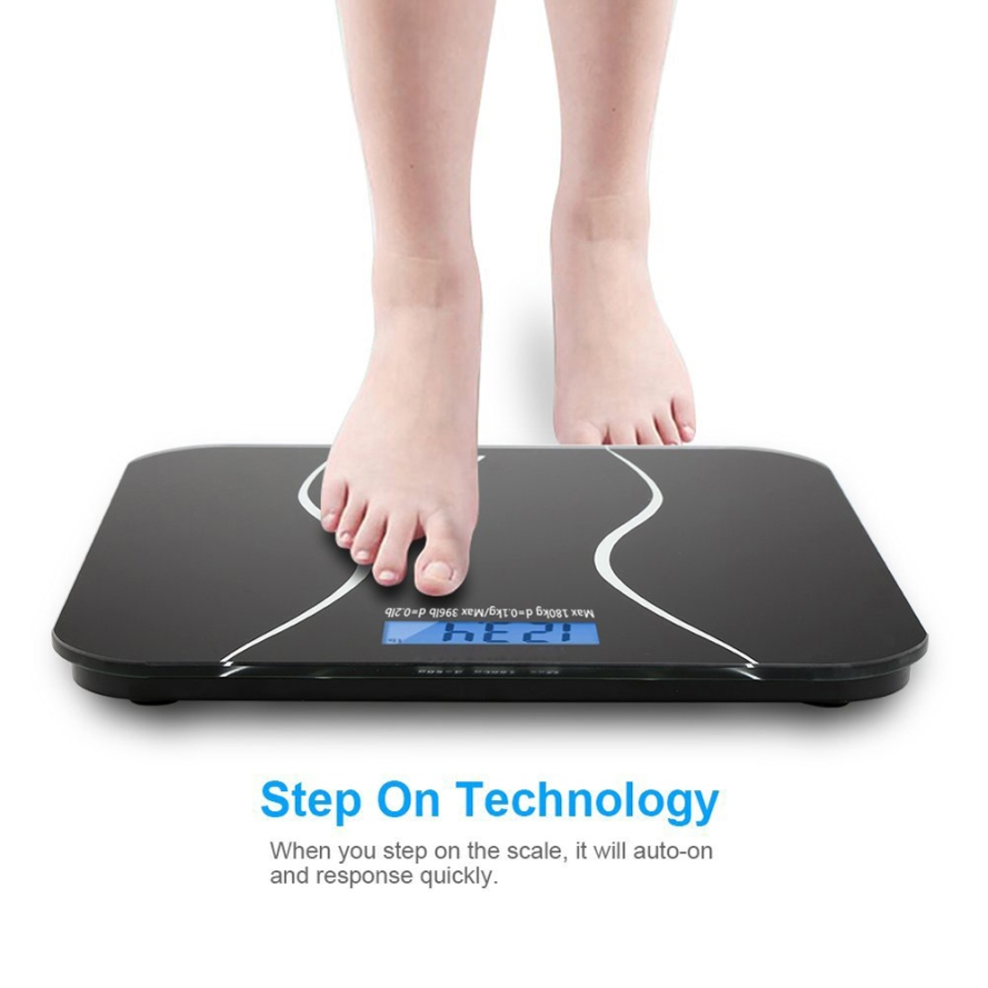 Zimtown Digital Bathroom Scale Toughened Glass Electronic Weight Scale.jpeg